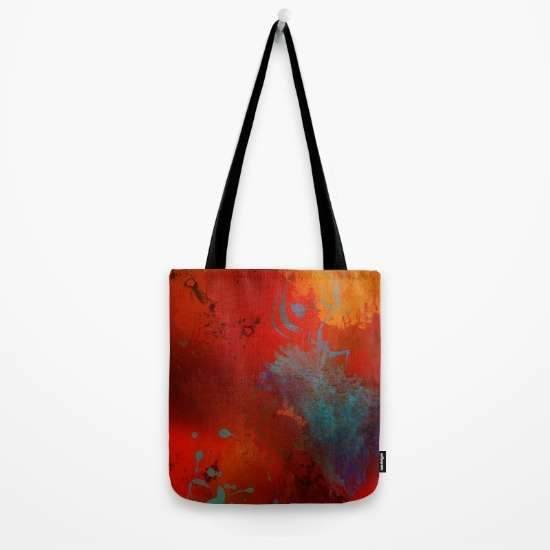 Colorful, artsy, unique tote bags designed by Melody Watson