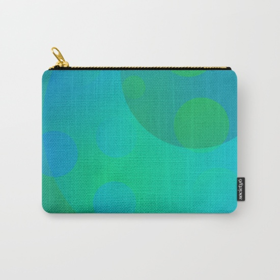 Artsy zipper pouches in 3 sizes designed with abstract artwork by Melody Watson