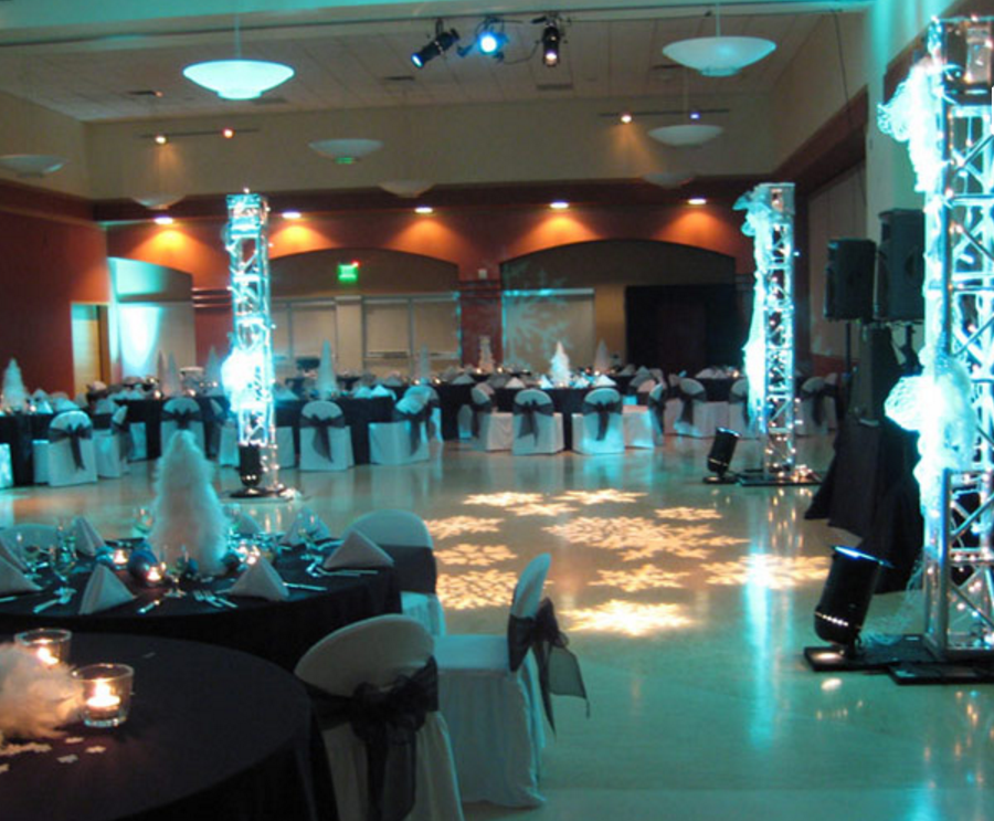 Celebration Hall - a 4500 sq.ft. event venue located within the complex.The room can be subdivided into three smaller rooms.