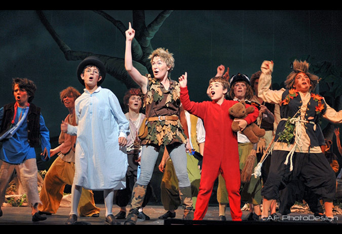 Peter Pan - Produced by RC Community Theater, one of the 4 resident companies at the Playhouse.