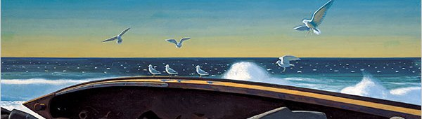 Rockwell Kent, On The Water (detail)