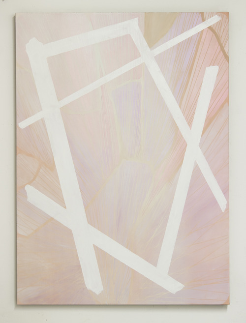Pink Tectonics (2012), Oil on linen, 52 x 38 inches
