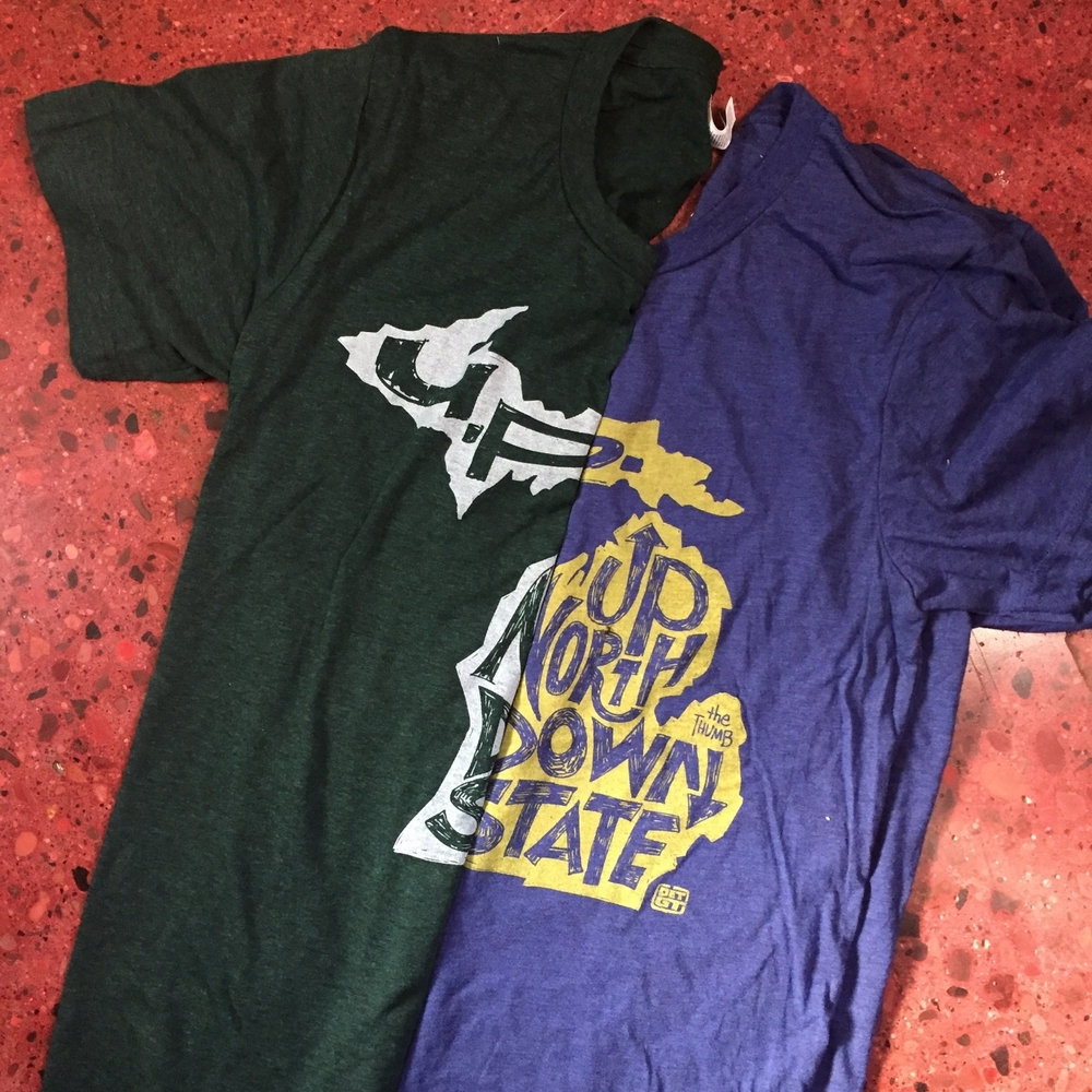 UP north, down state, U.P. and thumb tee