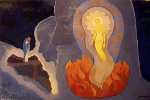 "Oil painting ""Kuan-yin"" by Herman Rednick"