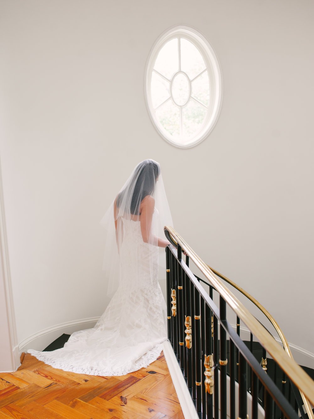 Bride Walks Down Stairs Private Buckhead Estate-1016.jpg