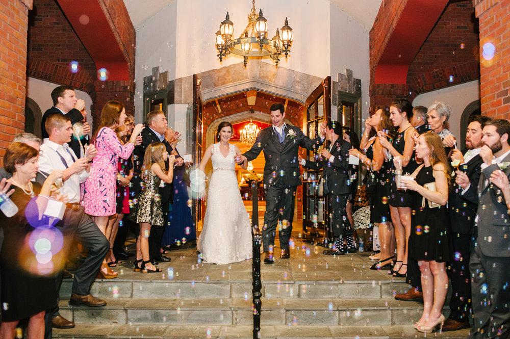 Atlanta Athletic Club Wedding Exit with Bubbles.jpg