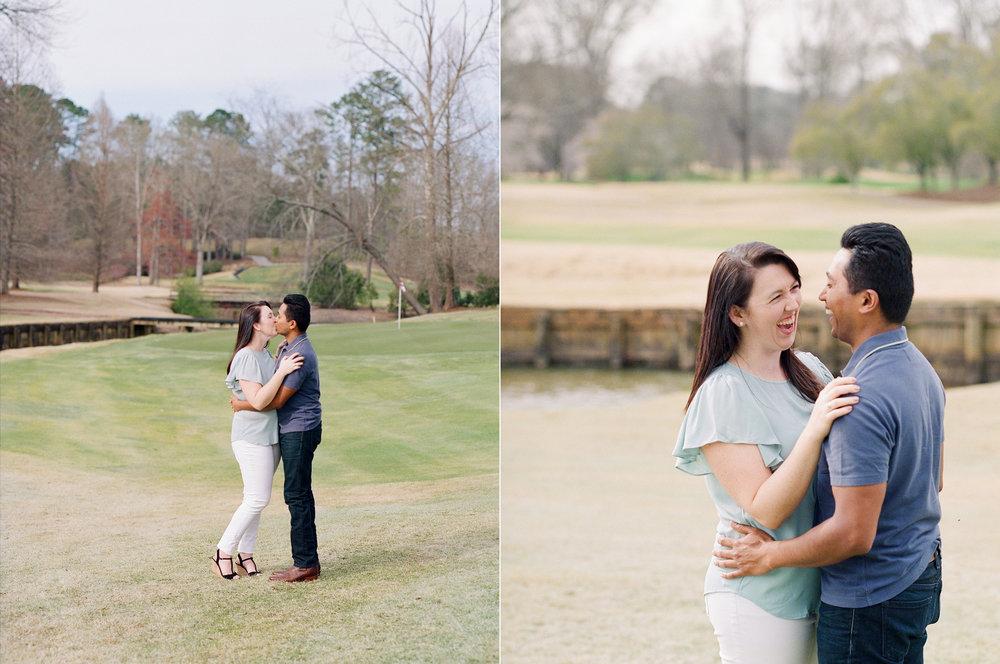 Engaged Couple Laughing Atlanta National.jpg