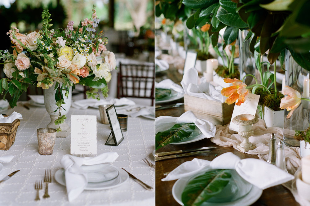 Southern al fresco Wedding Reception Decor with Magnolia.jpg