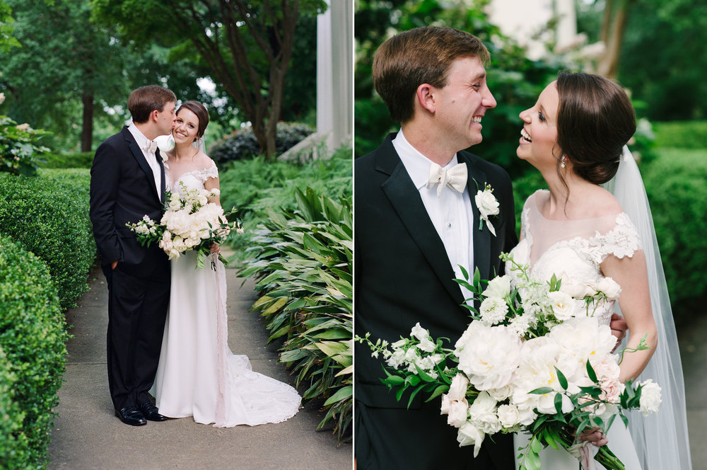 Couple Laughing UGA Campus Wedding.jpg