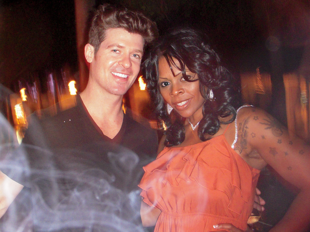 Robin Thicke with Photographer, Writer Le'Shaun C. Williams