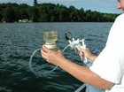 Among other things, water monitoring technicians check for nutrients, temperature and dissolved oxygen in lakes.