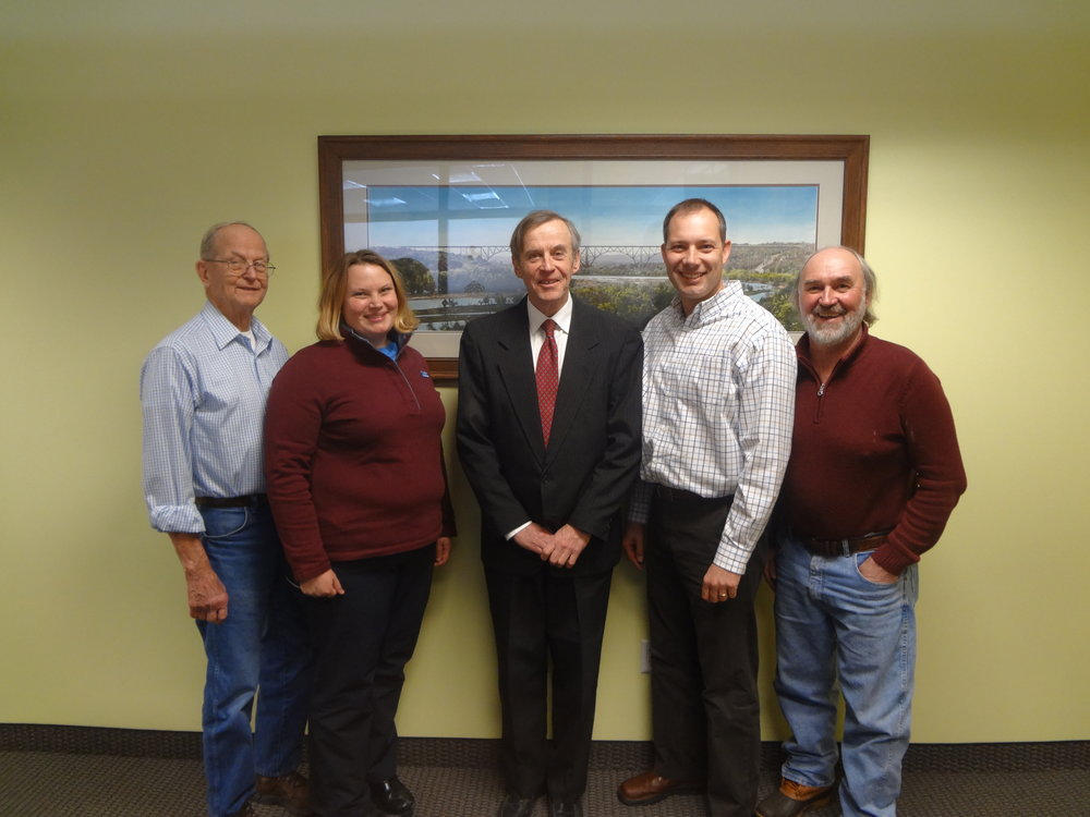 From Left to Right: Bob Rosenquist, Diane Blake, John Rheinberger, Jim Levitt, and Tim Behrends