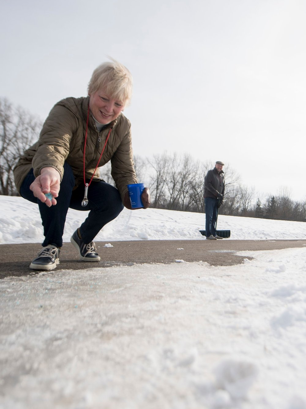 """Winter Maintenance - Winter is a time of rest for our plants and gardens, but the snowfall it brings creates a lot of work nonetheless.When shoveling or plowing, make sure to never pile up the snow on top of your raingarden or native planting. In addition to the added weight, the sediment and salt that is scooped up with your snow will end up in your garden once the snow has thawed. This sediment buildup and salt can harm the plants!Use salt wisely in the winter to prevent excess salt from entering our lakes, streams, and groundwater by following these four simple tips!1. Shovel — clear walkways before snow turns to ice and before you apply salt. The more snow you clear manually, the less salt you'll need.2. Select — Salt (Sodium Chloride) doesn't melt ice if the pavement is below 15 degrees, so use sand for traction when it's too cold or choose a different deicer that works at lower temperatures, such as Calcium Chloride.3. Scatter — Use salt only where it's critical! When you apply salt to pavement, leave plenty of space between granules ( 1-2"""") . A 12 oz coffee cup of salt is enough to cover 10 sidewalk squares or a 20 ft driveway.4. Sweep — Clean up leftover salt, sand, and de-icer to save and reuse as needed.Additional Resources:Improved Winter Maintenance: Good Choices for Clean WaterWinter Maintenance for Small Sites"""