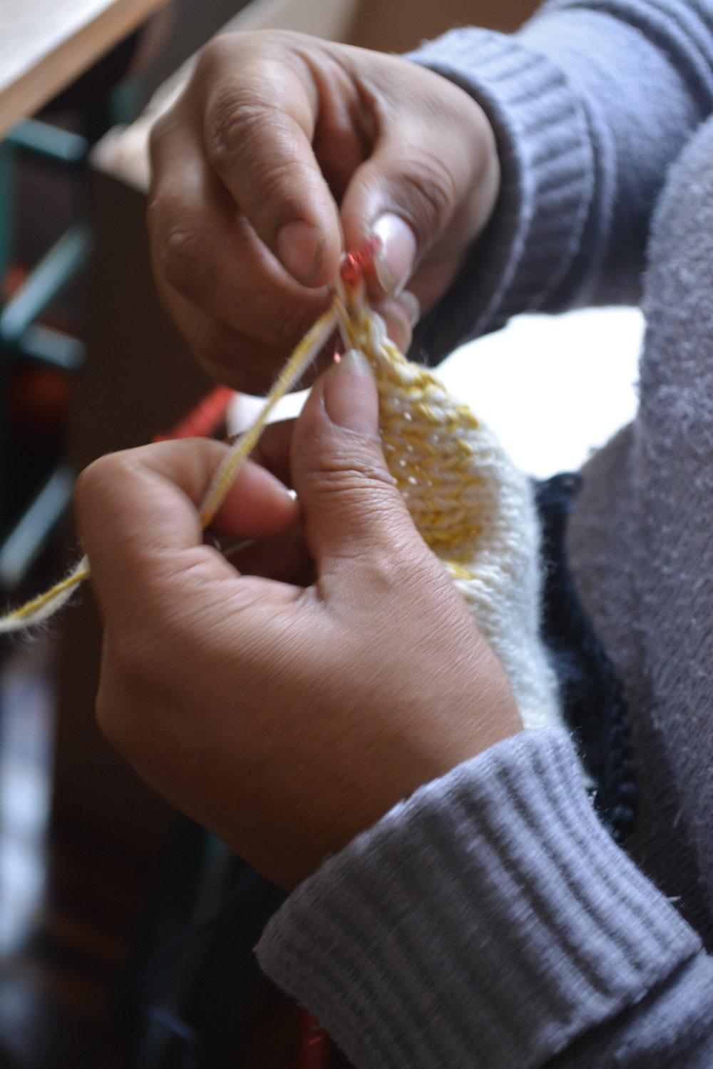 peruvian hand knitting