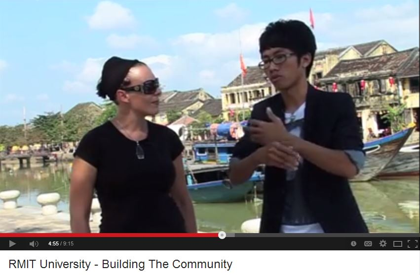 Short YouTube film featuring RMIT Uninversity Melbourne and Vietnam students (9:15 minutes duration).