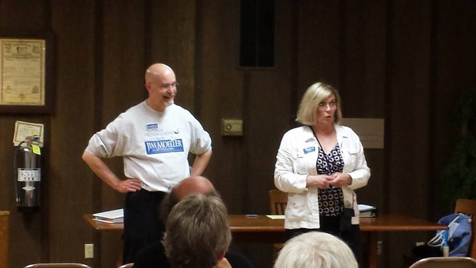 Jim Moeller & Sharon Wylie give a rallying call to volunteers