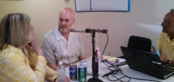 Representatives Sharon Wylie & Jim Moeller and host Mike McCarthy recording the first Clark County Democrats Podcast