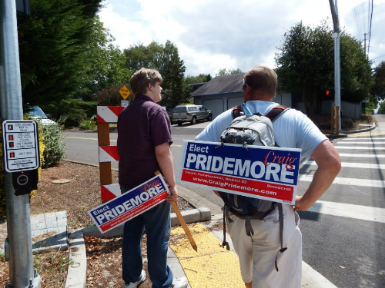 Supporter & Craig on the WALK of Clark County
