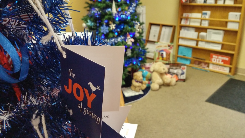 Giving Tree at the Clark County Democrats office