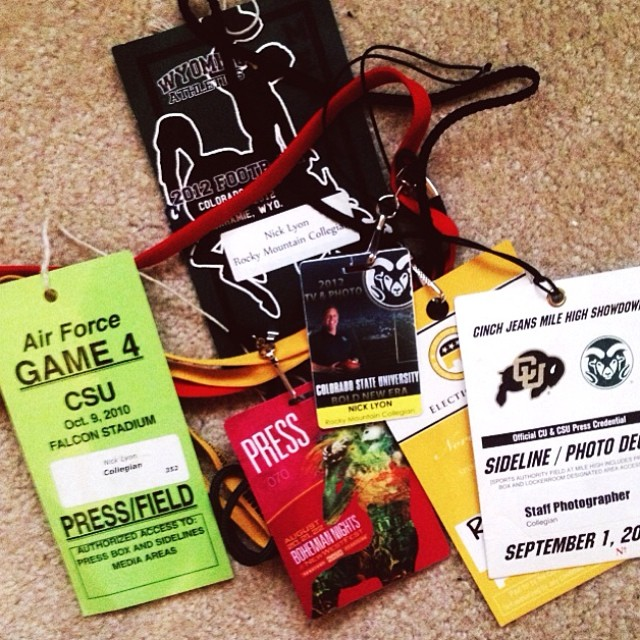 Small collection of my old press passes.