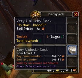 And  this  pretty much sums up my luck in WoW.