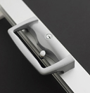 Twin Point Sliding Door Lock   This powerful square form handle surface mounts to the door.  The handle incorporates a twin actuated locking mechanism  with dual 316 grade stainless steel locking tongues