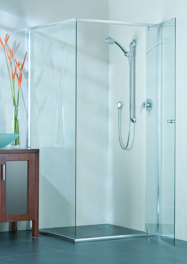 Semi Frameless Shower Screens Aero Glass And Aluminium