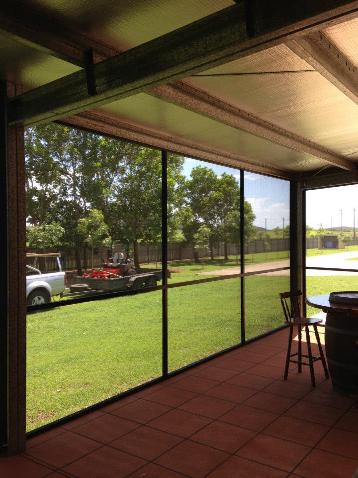 Screened Glass Patio Enclosure