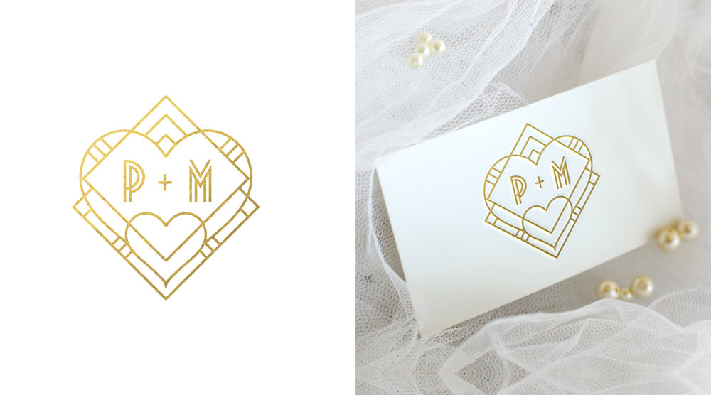 PM Monogram    Wedding
