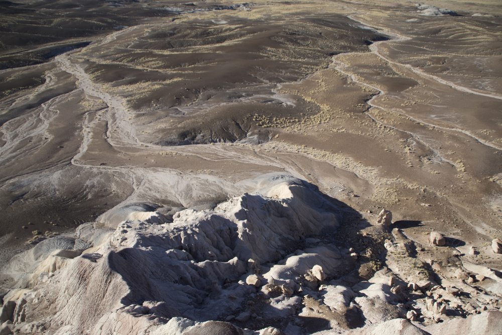 Looking down from Blue Mesa, Petrified Forest National Park
