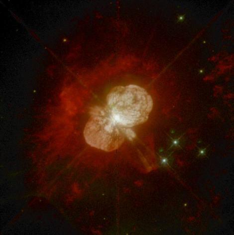 Eta Gredlja, zvezda na robu uničenja. (Foto: NASA/Esa Hubble Space Telescope)