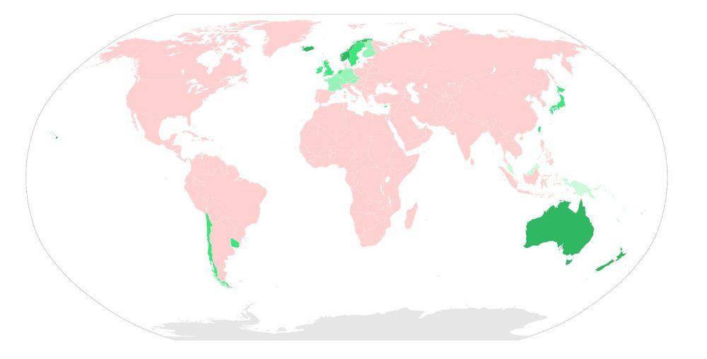Države brez stekline