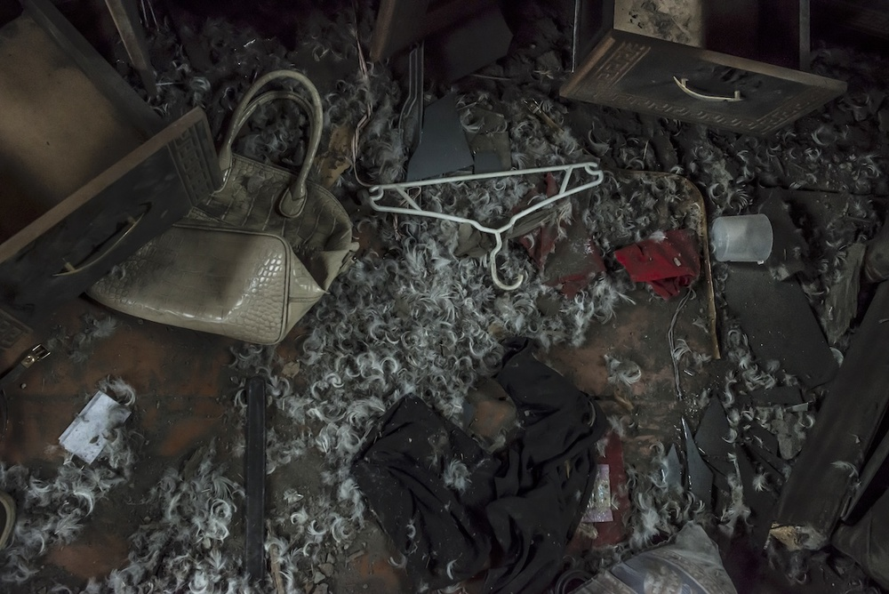 """The shootings began in the direction of the  [Talish]  village at night,"" Hermine Sahakyan, 30, says,"" We ran out of the house at 3:30 AM."" Later in the evening of April 2, around 5:00 PM, a shell hit their house. Another one hit the same house on April 5."