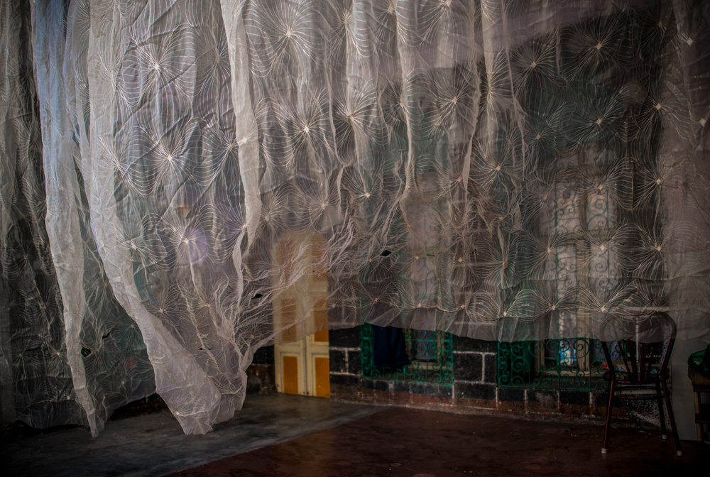 Veiled entrance of a house that is said to have belonged to Armenians, and is now inhabited by a Kurdish family.