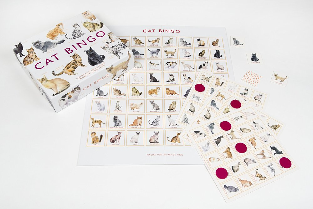 CAT BINGO AMAZON, $22.74 My little loves cats. Our cat is her buddy and she's always made sure to tell me this. An illustrated bingo game featuring 64 breeds of cat from around the world is perfect for the petite cat-lover.