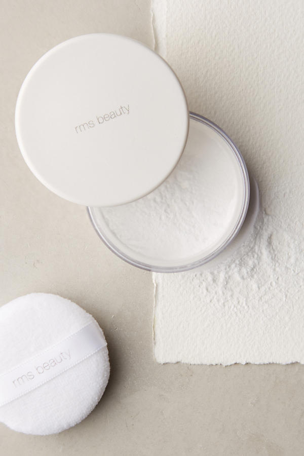 """UN"" POWDER   RMS BEAUTY, $34   I already own RMS Beauty's ""Un"" Cover-up, and I love it. It goes on shear but its buildable and it doesn't cake. The powder can be used as a foundation or a light concealer as it visibly melts into the skin while covering imperfections and redness."