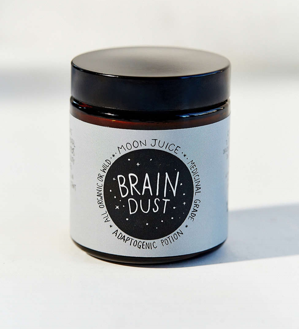 BRAIN DUST   MOON JUICE, $30   So you can be on top of your game...the ingredients in this powder work amazingly well at helping with focus. I've also had luck with buying the ingredients separately at an herb shop.