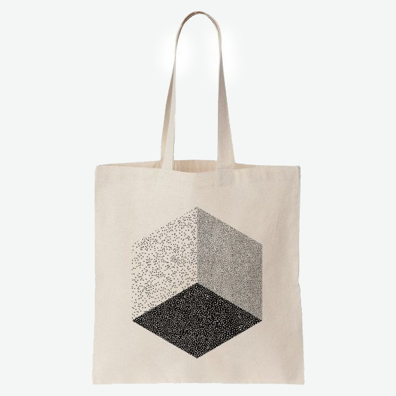 CUBE TOTE BAG—OELWEIN   LITTLE OTSU, $16   You can never have to many tote bags. For work, for books, for groceries, for carrying treats to client-get-togethers.