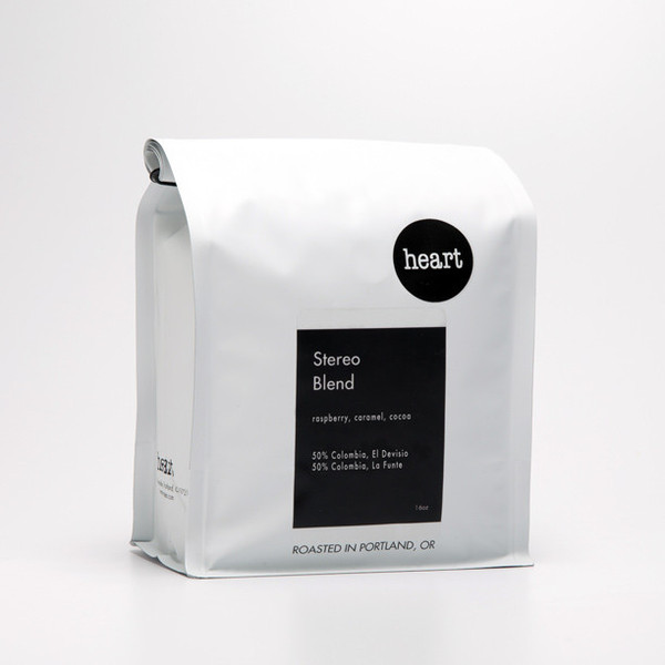 STEREO SEASONAL BLEND   HEART COFFEE ROASTERS, $19   One of the best places to get coffee in Portland, this coffee blend is one of my favorites to make at home. It has that wonderful hint of chocolate and it grinds well.   50% Ethiopia, Reko. 50% Guatemala, La Esperanza.
