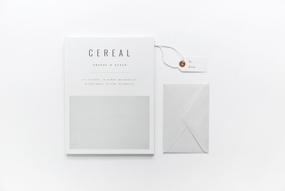 GIFT SUBSCRIPTION—CEREAL MAGAZINE   CEREAL, £22