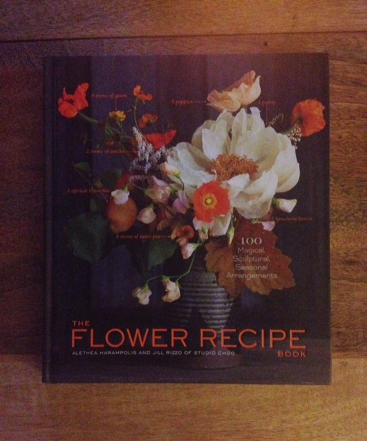 This is what The Flower Recipe book looks like! Its modeled by my West Elm coffee table, which actually happens to be a place where you can purchase the book!