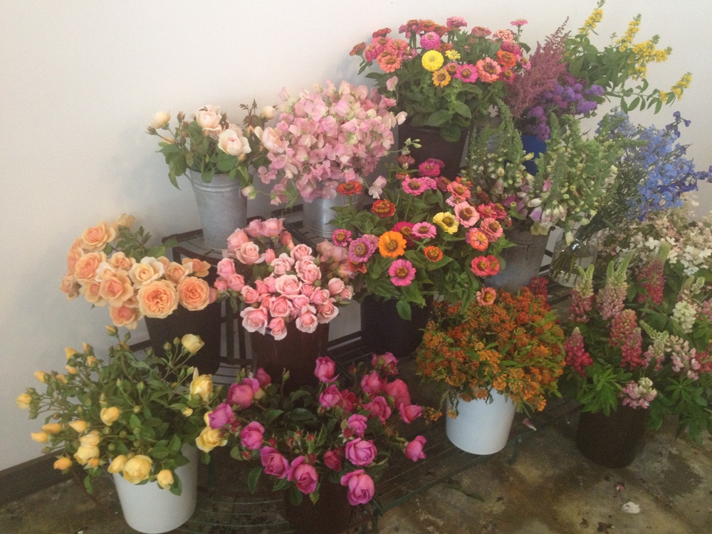 This was only half of the beautiful product we got to play with at the class. This is any flower lovers dream come true!