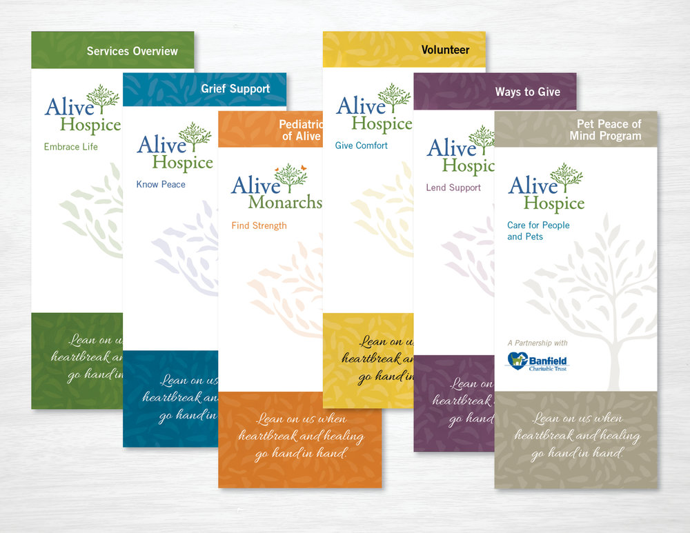 Collaboration with Amy Atkinson Communications || Brochures || Alive Hospice