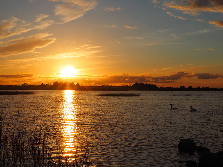 Sunset at Lough Derravaragh