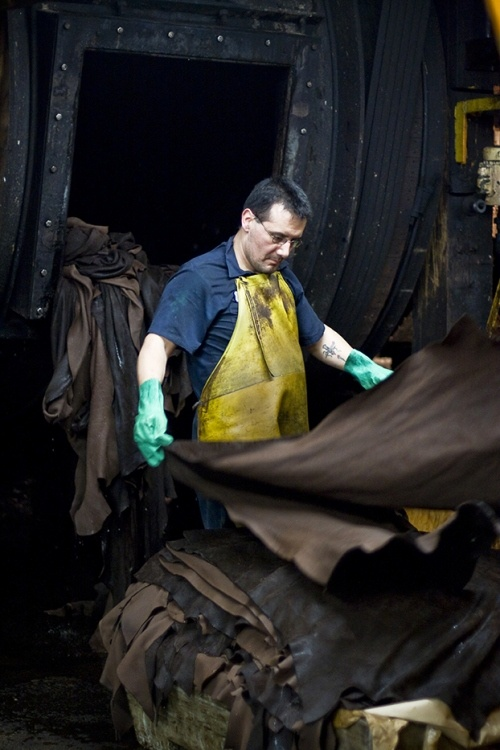 Examining-Leather-Stock-by-Horween