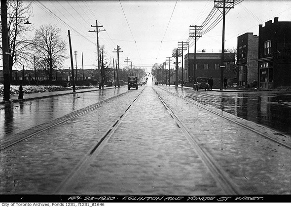View of Eglinton West of Yonge 1930