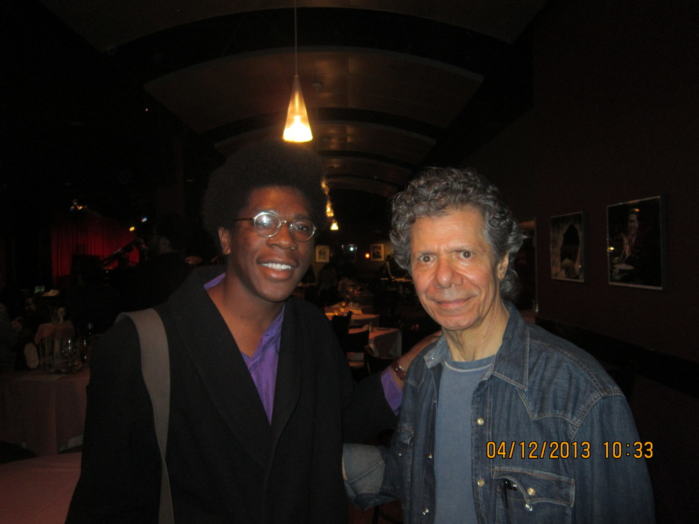 First time I got to meet Chick Corea at Catalina Jazz Club in Los Angeles.