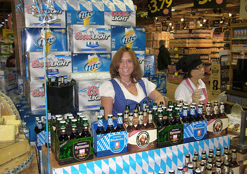 Beauté conducting a grand tasting Oktoberfest promotion at Wegmans