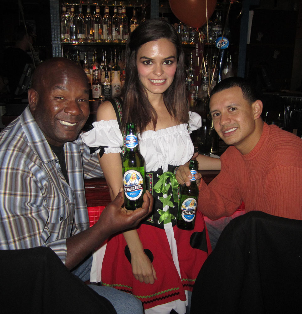 Beauté promotes St Pauli beer during an Oktoberfest event