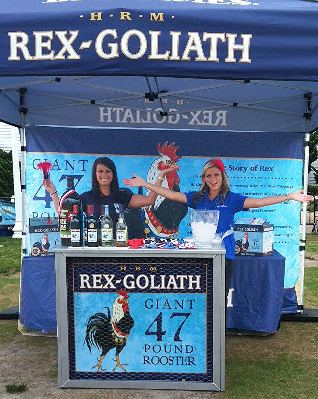 Beauté promotes Rex Goliath Wine during The Neptune Festival in Virginia Beach